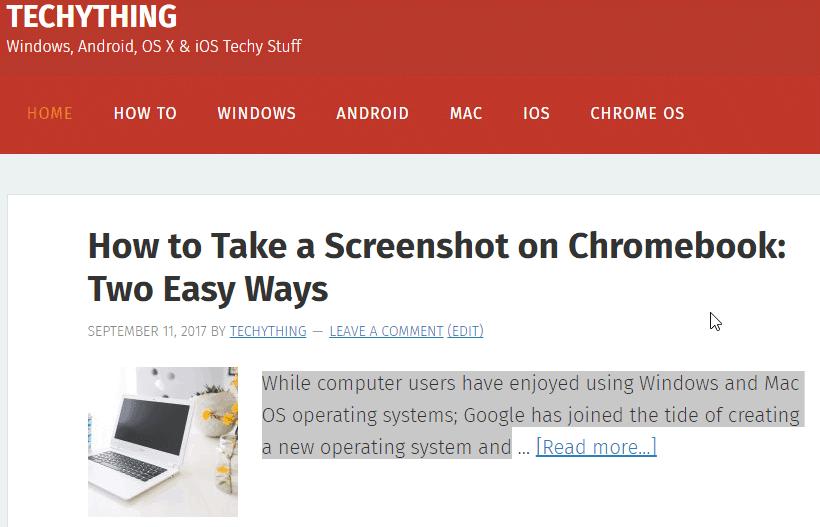 Highlight Text on Chromebook