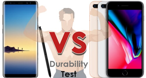 Samsung Galaxy Note8 vs iPhone 8 Durability test