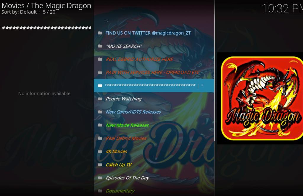 Magic Dragon Kodi addon