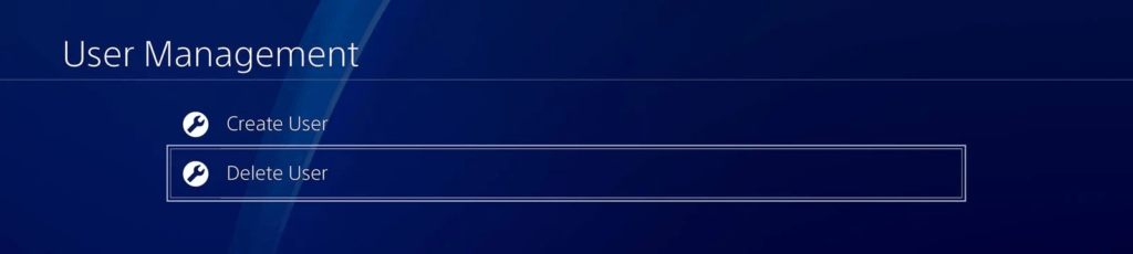 how to delete users on PS4