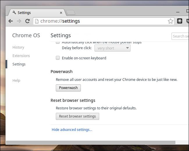 Reset Settings when Chromebook keyboard not working